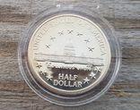 США 50 центов 1989 г 200-летие Конгресса США. Здание Капитолия., фото №3