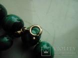 Нове намисто малахіт природний і срібло 60 см 105 г, фото №4