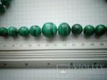 Нове намисто малахіт природний і срібло 60 см 105 г, фото №11