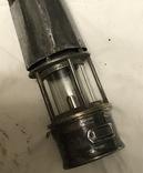Старинная керосиновая лампа шахтёрская редкая, фото №3