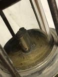Старинная керосиновая лампа шахтёрская редкая, фото №7