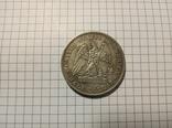 1/2 доллара 1877 США #279копия, фото №3
