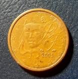 Франция 1 евро цент 2005, фото №3