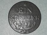 Австрия 1 крейцер 1816 года  B, фото №2
