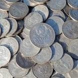 Серебрянные советские  полтинники 96 шт. и 1 рубль., фото №4