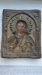 Икона Спаситель в окладе бронза, фото №2