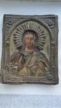 Икона Спаситель в окладе бронза, фото №3