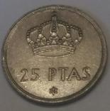 Іспанія 25 песет, 1975