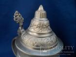 Коллекционная пивная  кружка Охота Олово Германия Клеймо, фото №10