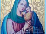 Старовинна ікона Божа матір Невянучий цвіт, фото №4