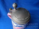 Коллекционная пивная кружка Керамика олово 1,1 L W - Germany, фото №7