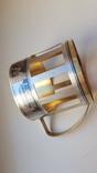 Подстаканник серебро СССР 875 проба. Чернь. Позолота. Вес 91 г., фото №7