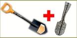 Лопата Fiskars Solid 131417 Саперка (Новая Ручка 2018) + Чехол ПИКСЕЛЬ 85 см, фото №2