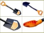 Лопата Fiskars Solid 131417 Саперка (Новая Ручка 2018) + Чехол ПИКСЕЛЬ 85 см, фото №11