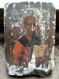 Старинная икона Николай Чудотворец под реставрацию, фото №2