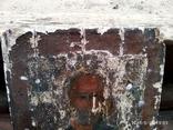 Старинная икона Николай Чудотворец под реставрацию, фото №3
