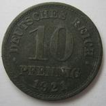 Германия 10 пфеннигов 1921 года., фото №2