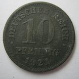 Германия 10 пфеннигов 1921 года., фото №3