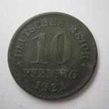 Германия 10 пфеннигов 1921 года., фото №5