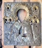 Икона Св.Николай Чудотворец с приписными, в окладе, фото №8