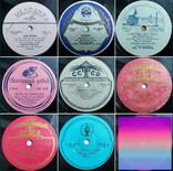 """Граммпластинки ссср. 10"""", 78 об/мин. Моно. Лот 1. Песни на разных языках, фото №2"""