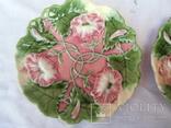 Старинные настенные тарелки майолика пара, фото №3