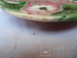 Старинные настенные тарелки майолика пара, фото №6