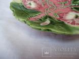 Старинные настенные тарелки майолика пара, фото №9