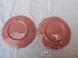 Старинные настенные тарелки майолика пара, фото №10