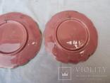 Старинные настенные тарелки майолика пара, фото №13