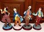 4 шт. - статуэтки - Клоуны- Германия - большие - до 30 см