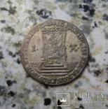 Польско-саксонский грош 1741 год Викариат, фото №3