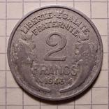 Франция. 2 франка 1948, фото №3