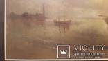 Старая картина в раме Морской пейзаж, фото №5