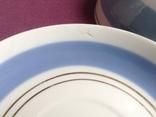 Чайная пара Голубое небо.  Фарфор. Чашка, блюдца., фото №5