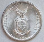 20 сентаво 1944 г. Филиппины, серебро, UNC, блеск, фото №8