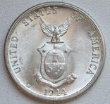 20 сентаво 1944 г. Филиппины, серебро, UNC, блеск, фото №9