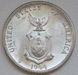 20 сентаво 1944 г. Филиппины, серебро, UNC, блеск, фото №10