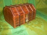 Шкатулка- сундучок + замочек с ключиком, фото №3