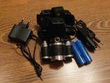 Налобный аккумуляторный фонарь Bailong Police RJ 3000 T6 3 Led, фото №2