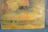 Старинная литография Иисус Христос. Размер 32 х 52 см., фото №5