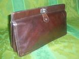 Сумка- клатч кожаная старинная брендовая Etienne Aigner, фото №3