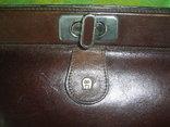 Сумка- клатч кожаная старинная брендовая Etienne Aigner, фото №5