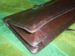 Сумка- клатч кожаная старинная брендовая Etienne Aigner, фото №7