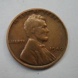 США 1 цент 1940 года., фото №2