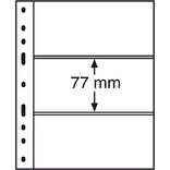 Лист к альбому Leuchtturm, Optima, 2x3 делений по 180 x 77 мм, черный 3S. 316307
