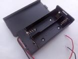 Батарейный отсек под два элемента 18650 закрытого типа с отключением.