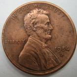 США 1 цент 1984 года.D, фото №3