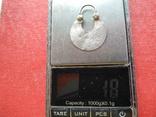 Серьга 1 шт. (серебро 84), фото №7