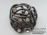 Пуговица ажурная серебрение 3 шт 60-е, фото №4